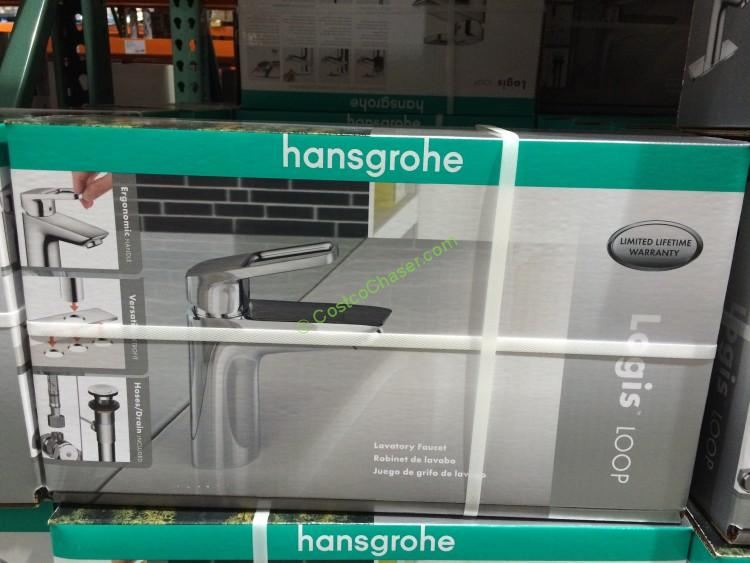 Costco 1033338 hansgrohe logis loop chrome bath faucet box Hansgrohe logis loop single hole bathroom faucet