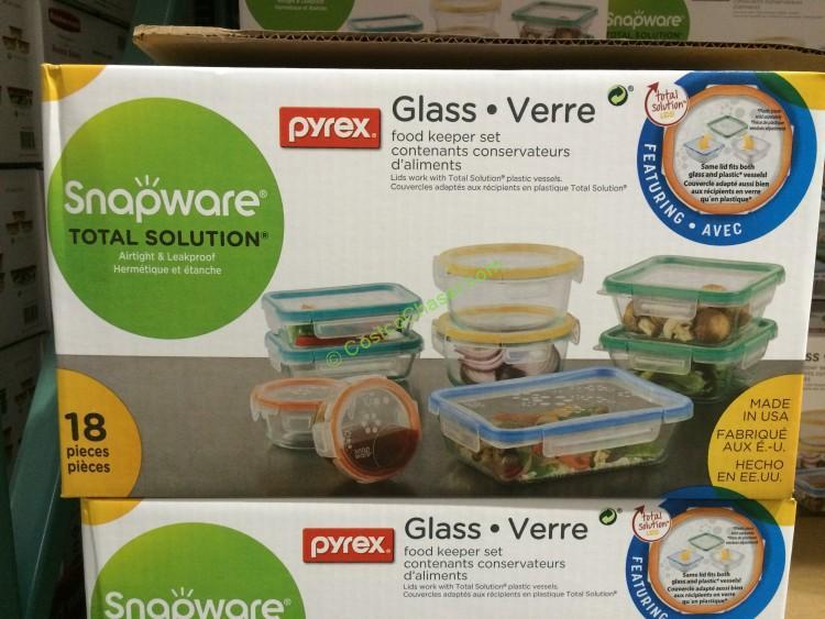 Snapware Pyrex Glass 18pc Food Storage Set Costcochaser