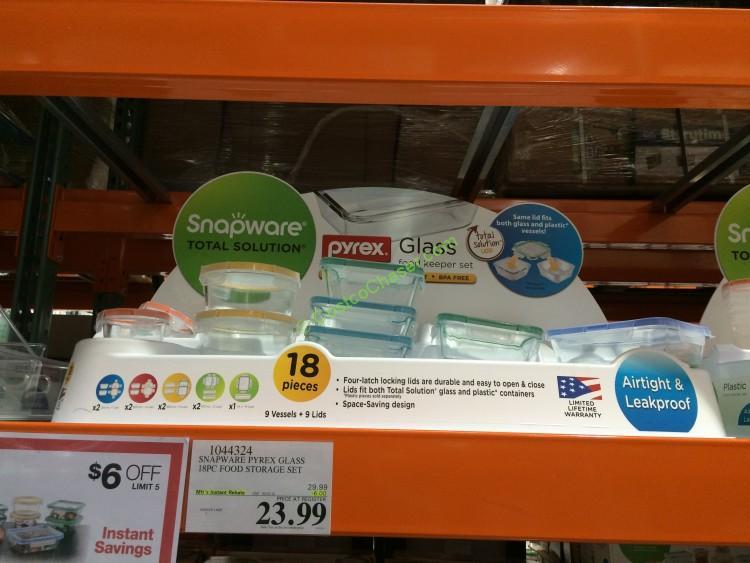 Snapware Pyrex Glass 18PC Food Storage Set – CostcoChaser