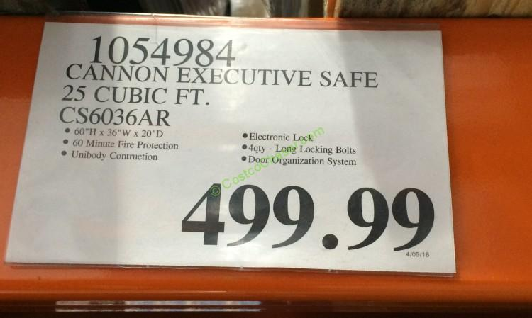 Cannon Executive Safe 25 Cubic Ft Cs6036ar Costcochaser
