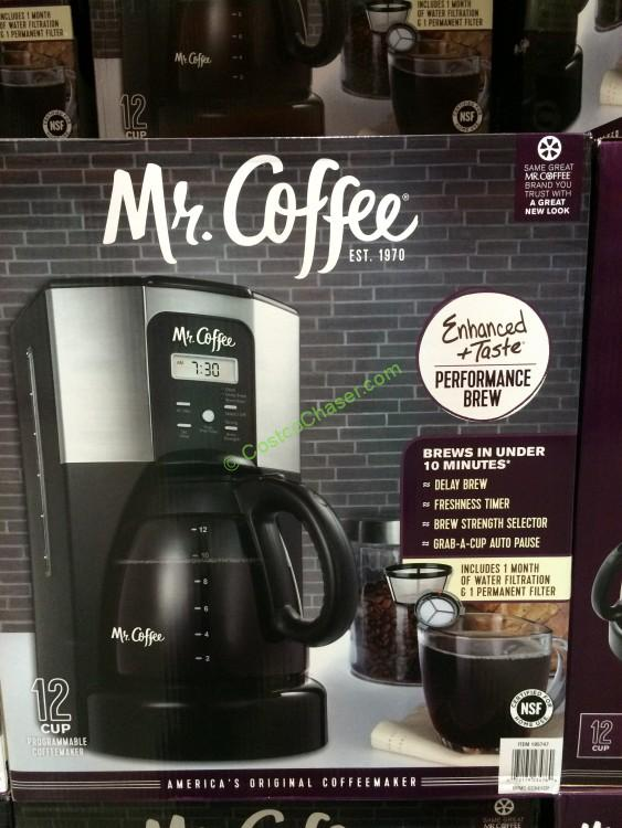 Mr. Coffee 12-Cup Programmable Coffee Maker, Model# BVMC-ECX41CP