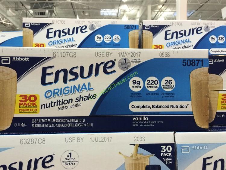 Ensure Original Nutrition Shake,Vanilla 30 Pack /8.0 OZ