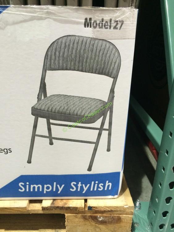 Meco Deluxe Folding Chair Padded Upholstered Model