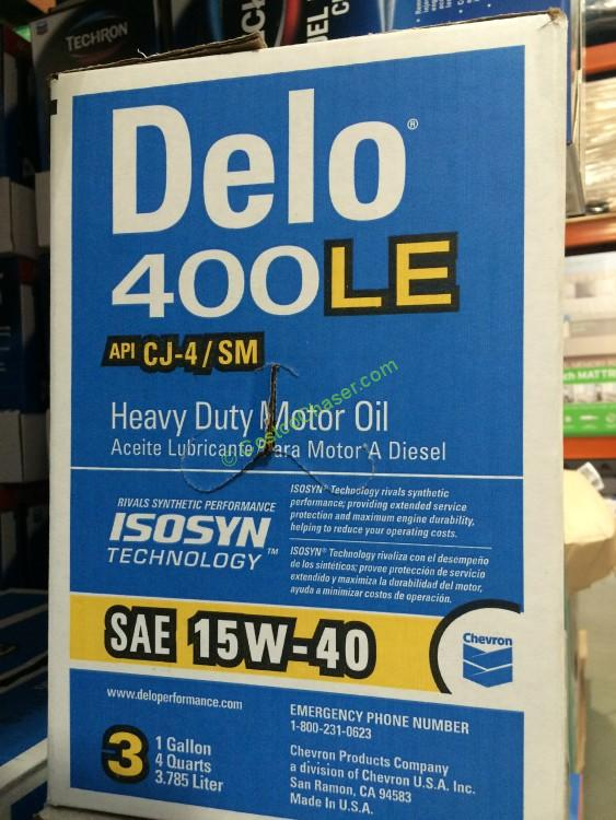 Chevron Delo 400 15W/40 Motor Oil 3/1 Gallon Case