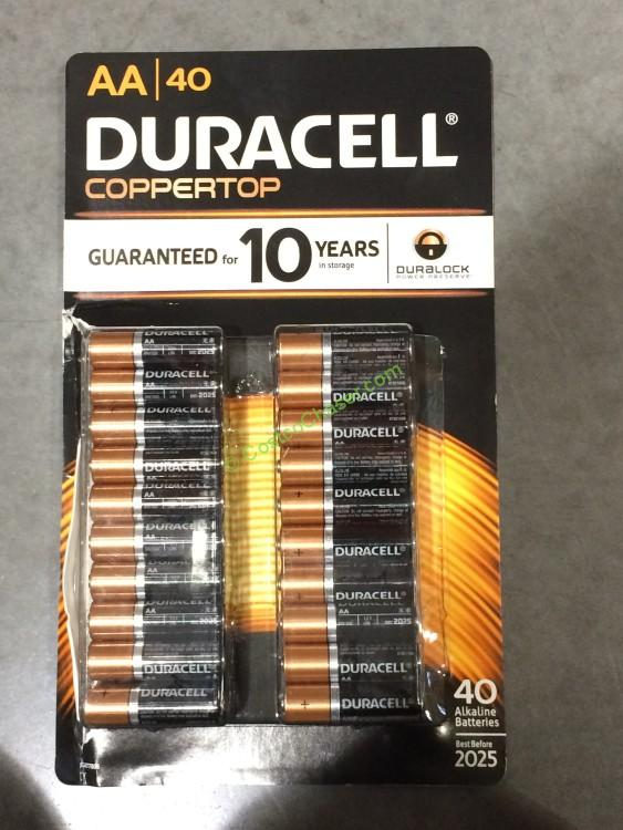 Costco 516590 Duracell Coppertop Alkaline Batteries Aa