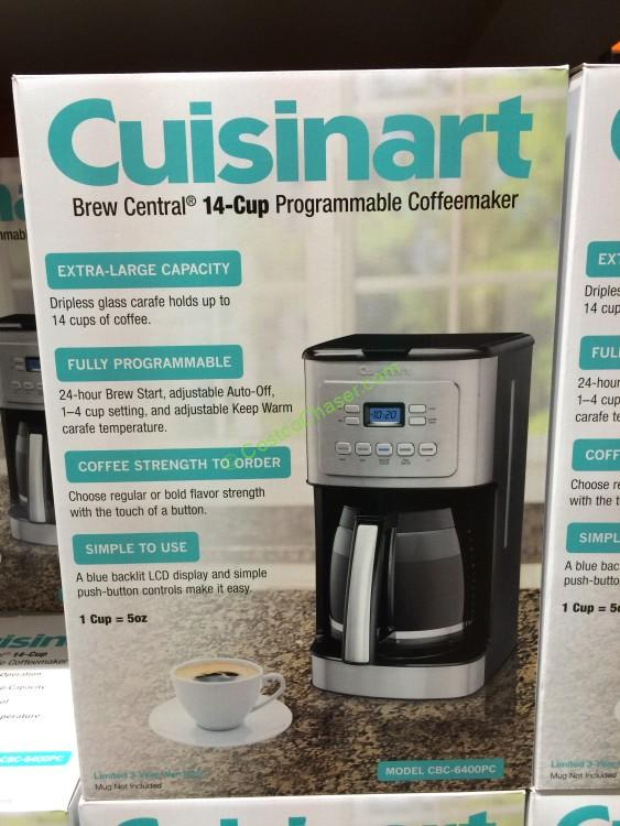 Cuisinart Brew Central 14-Cup Programmable Coffeemaker, Model CBC-6400PC