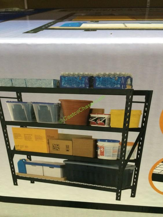 Edsal 4-Shelf Industrial Storage Shelving Unit, Model: ER772472W4