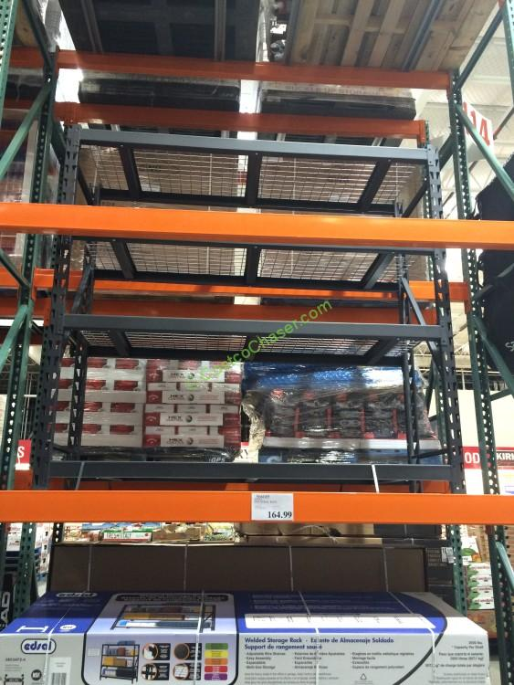 costco shelving units costco 566085 edsal industrial rack costcochaser 14113