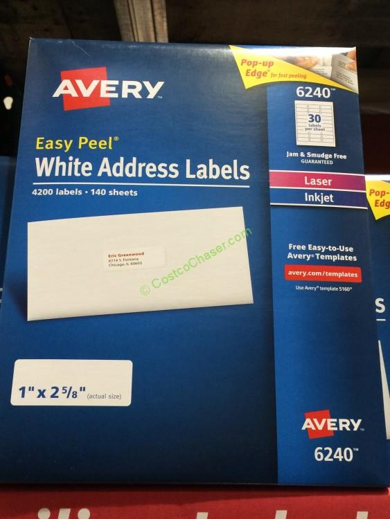 Avery Dennison Laser/Inkjet Labels Dual Tech 4200 Count