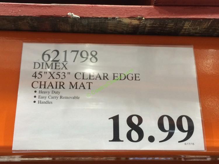 Dimex 45 X 53 Clear Edge Chair Mat CostcoChaser – 45 X 53 Chair Mat