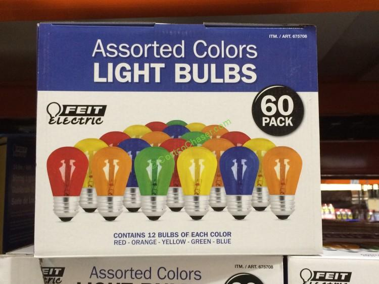 Feit Electric Assorted Color Bulbs 60 Pack – CostcoChaser