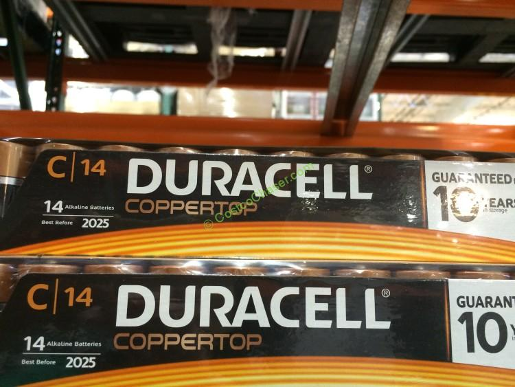 Duracell Coppertop C Alkaline Batteries, Duracell Coppertop D Alkaline Batteries 14 Pack