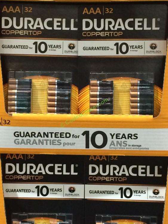 Duracell Coppertop Alkaline Batteries, AA 40 Pack or AAA 32 Pack
