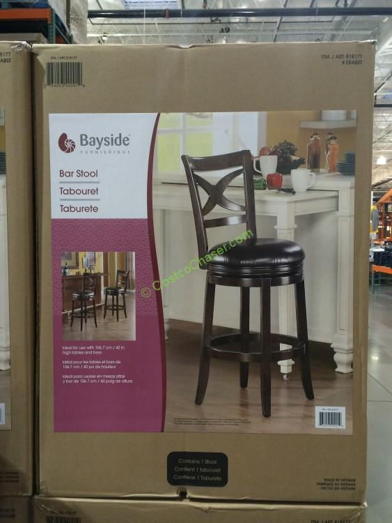 Costco 818177 Bayside Furnishings Era Swivel Barstool Box