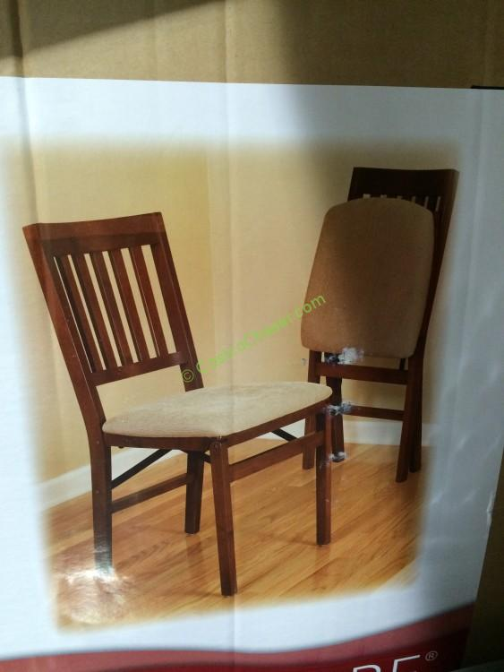 Stakmore Solid Wood Folding Chair With Padding Seat