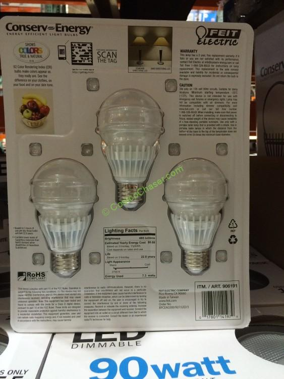 Costco Feit Led Patio Lights: Feit Dimmable LED Light Bulb 40 Watt Replacement 3 Pack