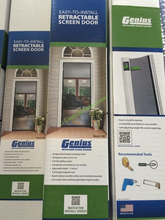 Costco 917971 genius retractable screen door use1 for Genius retractable screen