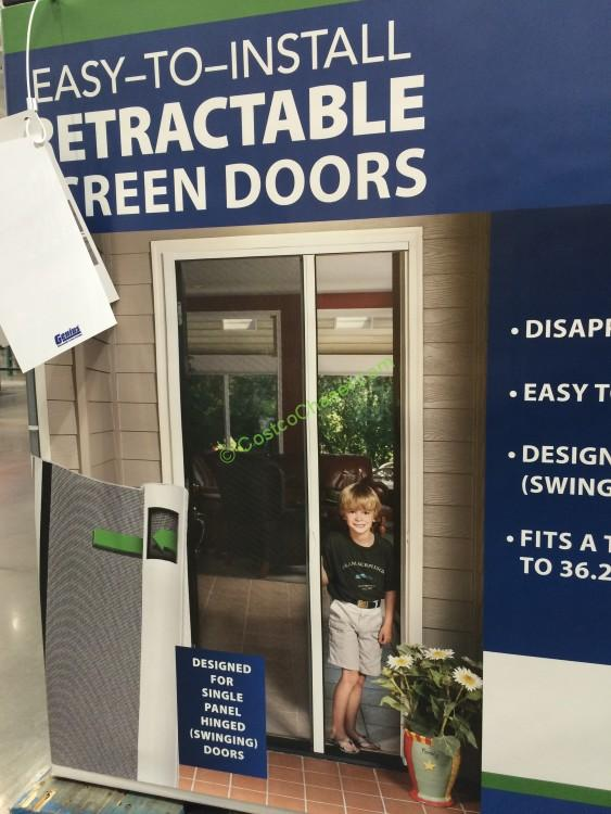 Genius retractable screen door costcochaser for Genius retractable screen