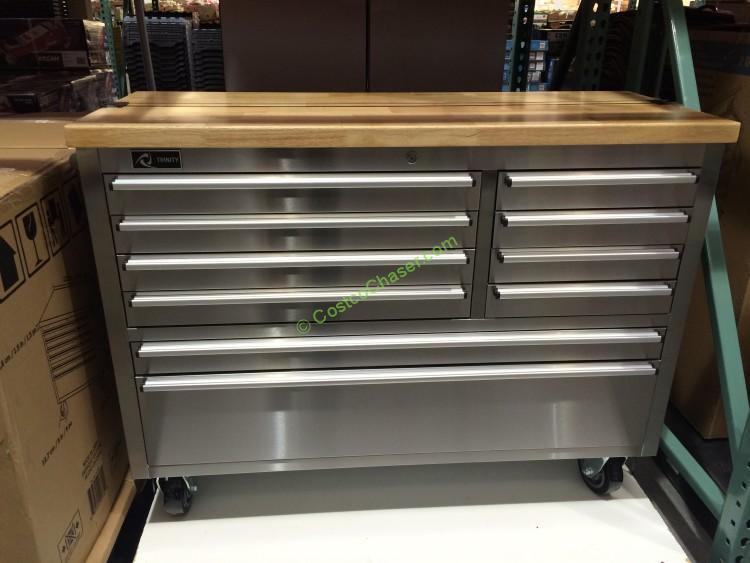 Trinity 48 Stainless Steel Rolling Workbench Costcochaser