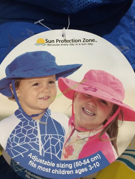 Sun Protection Zone Kids Safari Hat
