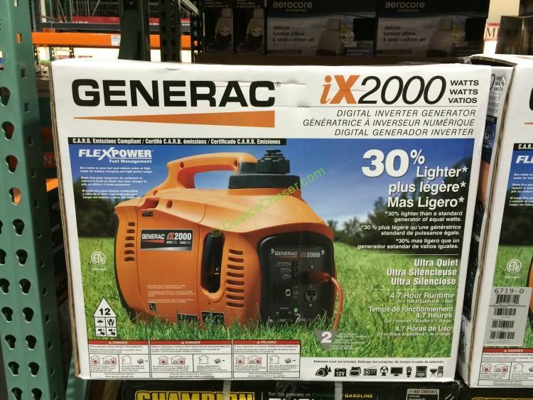 Generac IX12000 Portable 2000 Watt Inverter Generator, Model# 6719