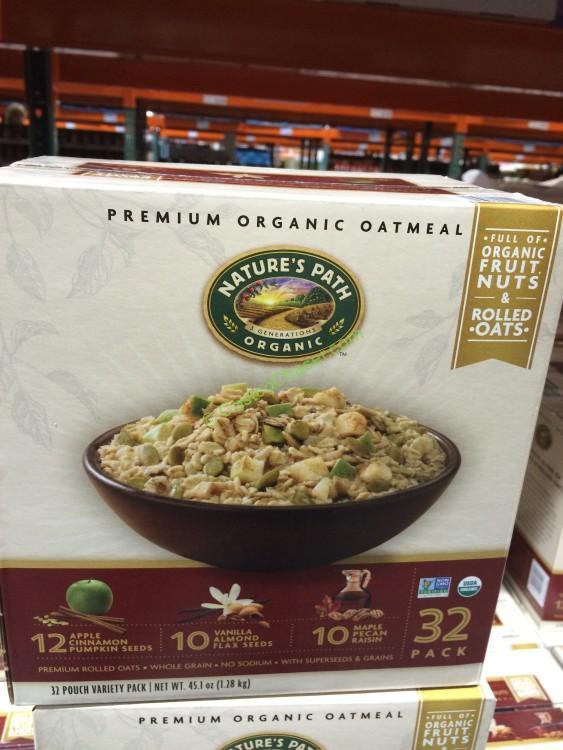 Nature's Path Premium Organic Oatmeal Variety 32 Count Box