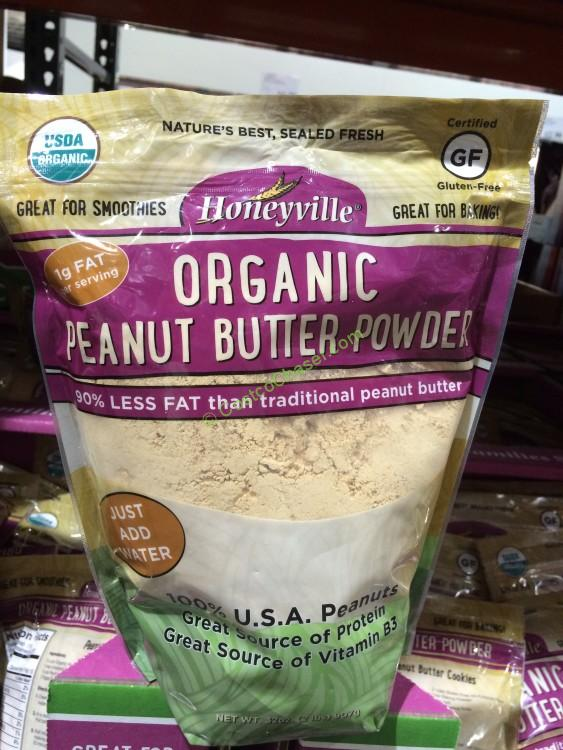 Organic Honeyville Peanut Butter Powder 32 Ounce Bag