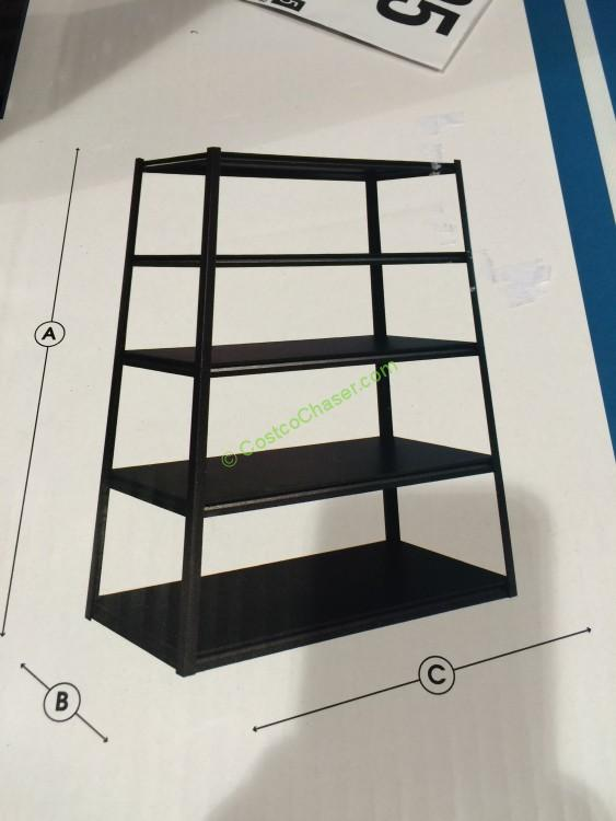 Whalen 5 Shelf Storage Rack Industrial Strength Steel