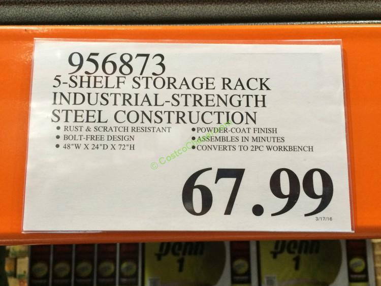 costco-956873-5-shelf-storage-rack-industrial-strength-steel-construction-tag