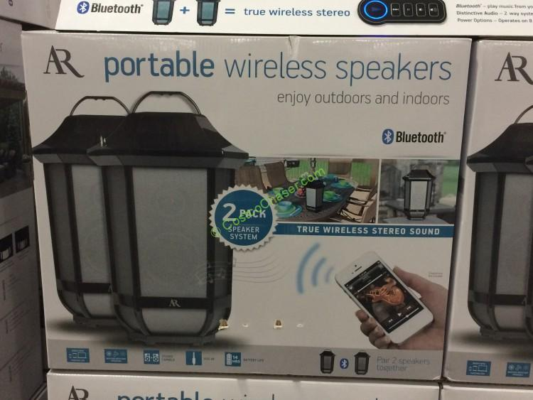 Acoustic Research Glendale 2 Pack Bluetooth Speakers