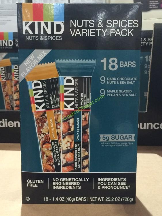 Kind Bar Nut & Spice Variety 18 Count Box