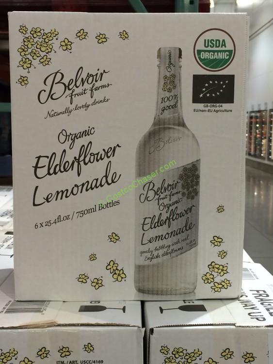 Organic Belvoir Sparkling Lemonade with Elderflower 6/25.4 oz.
