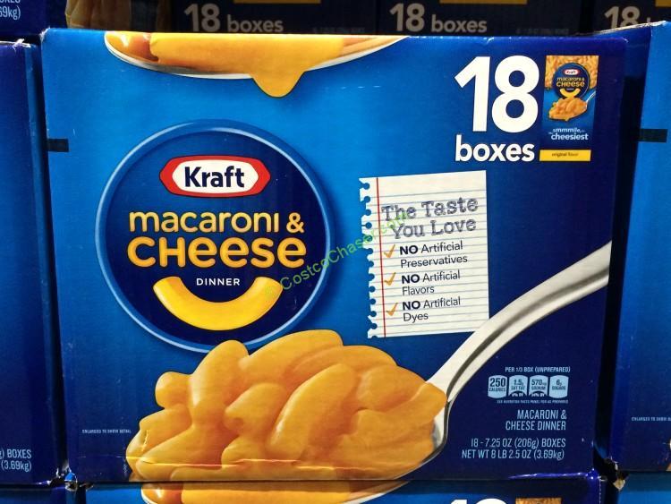 Kraft Macaroni & Cheese 18/7.25 Ounce Boxes