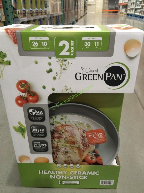 GreenPan 2PK Ceramic Non-Stick Skillets