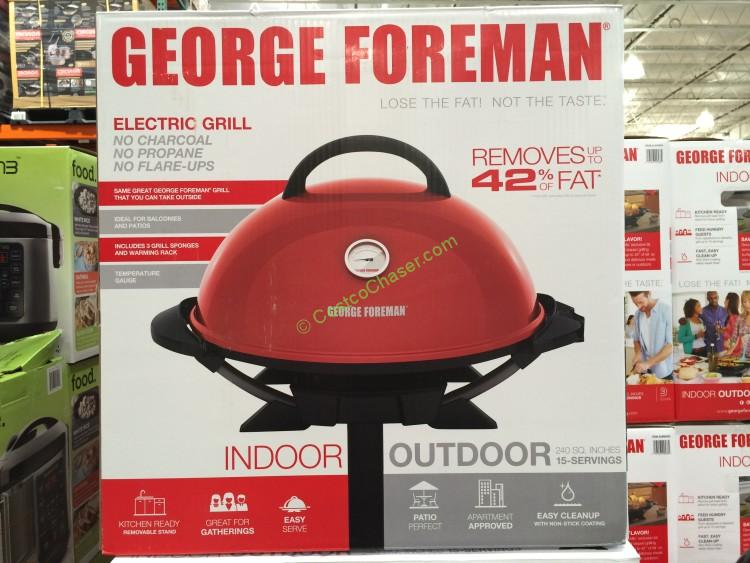 Costco 2990093 George Foreman Indoor Outdoor Grill Box