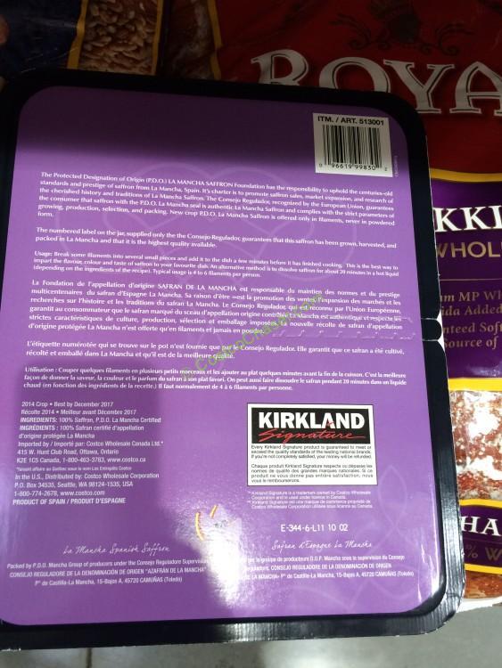 Kirkland Signature La Mancha Saffron 1 Gram Jar Costcochaser