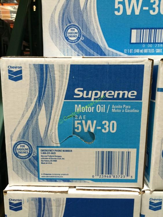 Chevron supreme 5w30 motor oil 12 1 quarter case for What s the difference between 5w30 and 10w30 motor oil