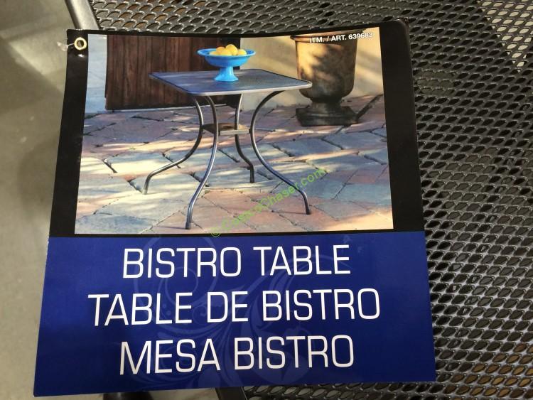 Sunvilla Micro Mesh Commercial Bistro Table Costcochaser