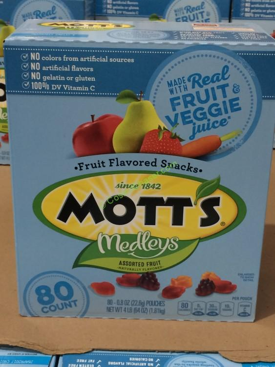 General Mills Mott's Medleys Fruit Shapes 80 Count Box