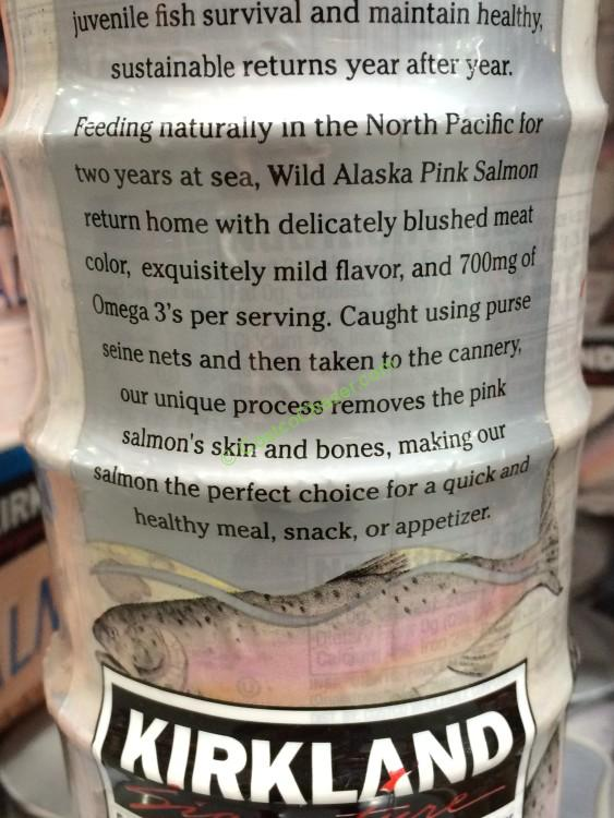 Kirkland Signature Wild Alaskan Pink Salmon Boneless