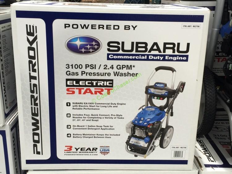 Powerstroke 3100 Psi Pressure Washer W Subaru Electric Start Engine Costcochaser