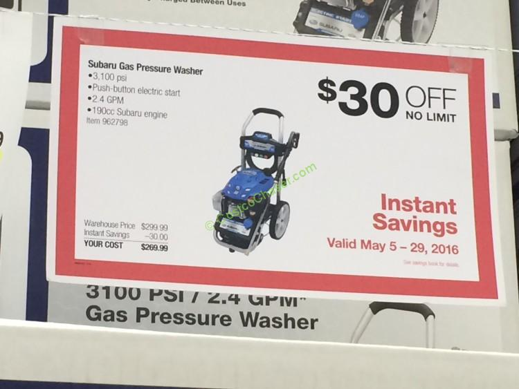 psi gas pressure washer