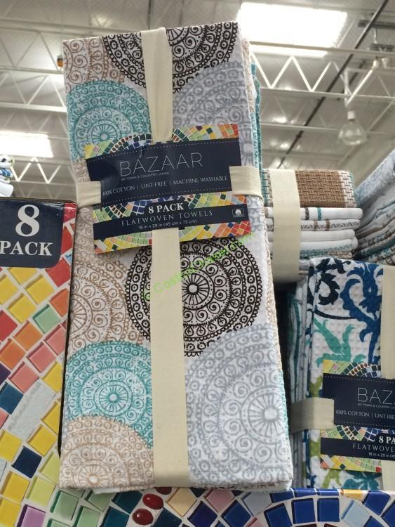 Bazaar Kitchen Towel 8 Pack Costcochaser