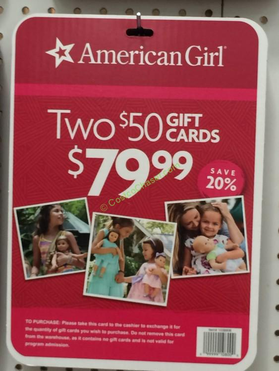 American Girl 2/$50 Gift Cards