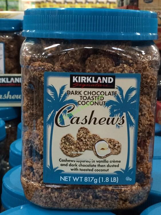 Kirkland Signature Dark Chocolate Cashews 28.8 Ounce Jar