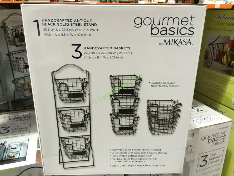 Gourmet Basics By Mikasa 3 Tier Basket Costcochaser