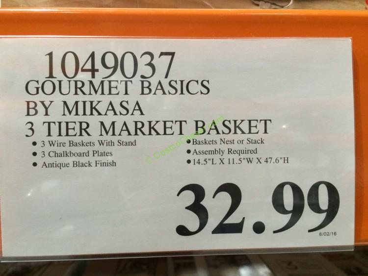 Costco-1049037- Gourmet-Basics-by-Mikasa-3-Tier-Basket-tag