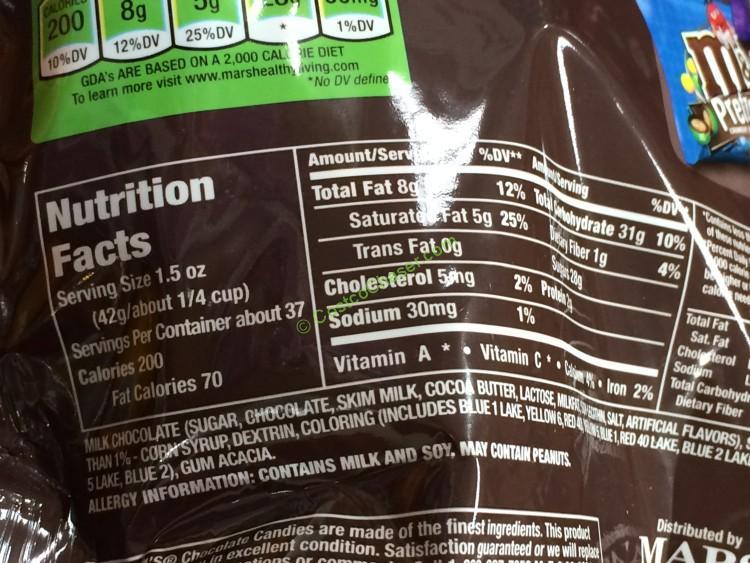 M & ms nutrition