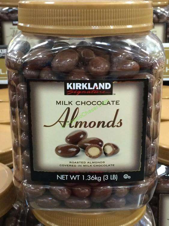 Kirkland Signature Chocolate Almonds 48 Ounce Jar