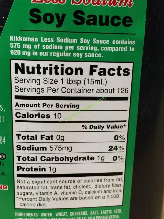 soy sauce nutrition label  ythoreccio